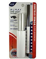 Almay One Coat Mascara Black Brown 403 Bonus Eyeliner