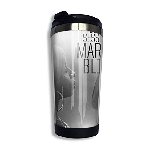 KkdsKkds Mary J Blige Vacuum Insulated Stainless Steel Water Bottle (400ml/13.5oz) with Lid Print Undertale Vintage Travel Coffee Mugs,for Home/Office/School/Travel/Camping/Hiking