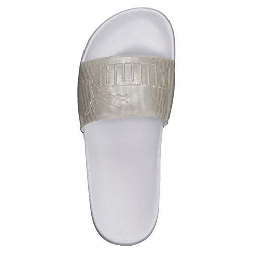 Puma Leadcat Ep Wns Q2, Chaussures de Plage et Piscine Femme Blanc (Puma White-gray Violet)