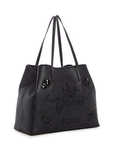 GUESS Embroidered Black Set Tote Vikky fYBfqP