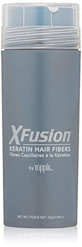 XFusion Economy Size Keratin Hair Fibers, Gray, 0.98 Ounce