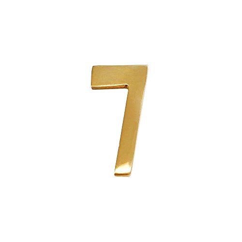 "Self-adhesive 2"" Inch Williamsburg Brass Mailbox Number #7"
