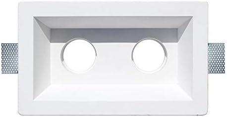 Aplique de yeso doble rectangular para encastrar en el techo ...