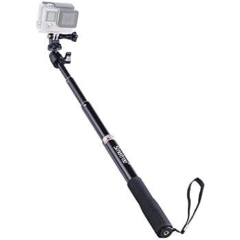 //AKASO GeekPro SJCAM EKEN h9r Xiaomi Yi Camera Action Camera Extendable Aluminum Selfie Stick Handheld Monopod Tripod Mount Compatible for GoPro Max//Hero 8//7//6//5//4//3+//GOPRO Hero 2018