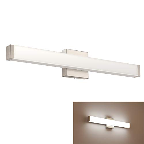 YHTlaeh Bathroom Vanity Light Brushed Nickel Square LED 24 inch 14W Daylight -