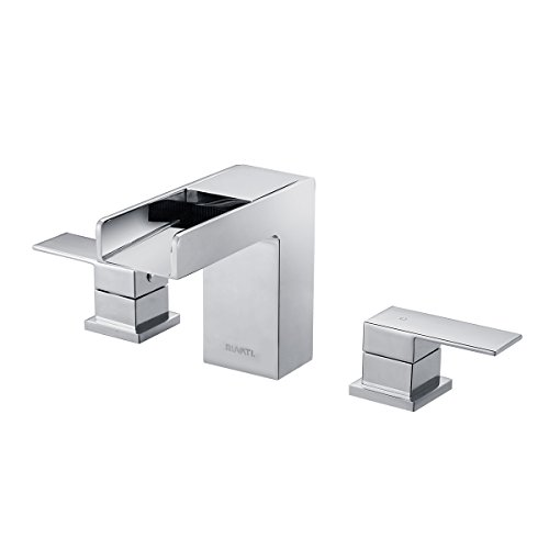 Ruvati RVF5125BN Waterfall 8 15 Widespread Modern Contemporary Bathroom  Faucet, Brushed Nickel