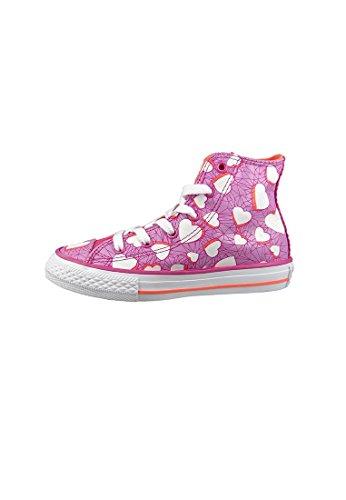 Converse Chucks Kinder 656022C Chuck Taylor All Star Valentines Messages HI Magenta Glow Pink Magenta Glow Wild Mango White