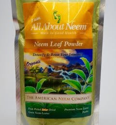 Neem Leaf Powder Bulk, Fresh Cut (5 Lb) Make Your Own Capsules or Tub Tea - Natural Raw Herb Super Food Supplement - For Healthy Skin and Hair, Detox, Stimulating the Immune System and More! by All About Neem, Inc.
