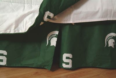 College Covers Michigan State Spartans Printed Dust Ruffle, Queen