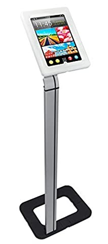 Mount-It! MI-3780 Tablet Stand for POS and Kiosk Use, Floorstanding, Anti-Theft, Anti-Tamper, Ground Standing, Locking, Tilting iPad Tablet Mount for Apple iPad 2, 3, 4, Air and Samsung Sizes 10.1 (Android Kiosk)
