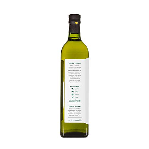 Chosen Foods 100% Pure Avocado Oil 1 L (5 Pack), Non-GMO, for High-Heat Cooking, Frying, Baking, Homemade Sauces, Dressings and Marinades by Chosen Foods (Image #2)