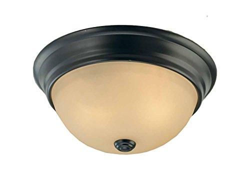 Sea Gull Lighting Windgate 9 In W 3 Light Brushed Nickel: Volume Lighting V7580-79 1-Light Flush Mount Ceiling