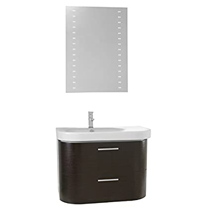 34 Inch Bathroom Vanity Set, Wenge
