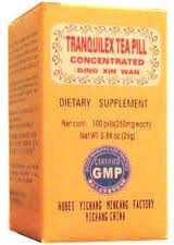 Tea Pill TRANQULEX (DING XIN) 250mg x 100 comprimés par bouteille
