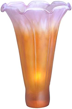 Meyda Home Indoor Decorative Lighting Accessories 4.5 Wx6 H Amber Green Pond Lily Shade