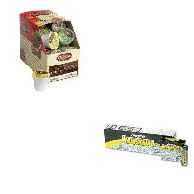 Energizer Drink - KITEVEEN91GMT6505 - Value Kit - Celestial Seasonings Tea K-Cups Sampler (GMT6505) and Energizer Industrial Alkaline Batteries (EVEEN91)