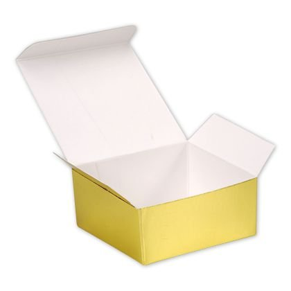 Deluxe Small Business Sales MB4GO 1.25 x 2.5 x 2.63 in. Paper Ballotin Candy Boxes, Bright Gold from Deluxe Small Business Sales