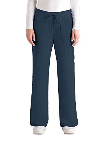 Grey's Anatomy Women's 4245 Junior Fit 4-Pocket Elastic Back Scrub Pants, Steel, ()