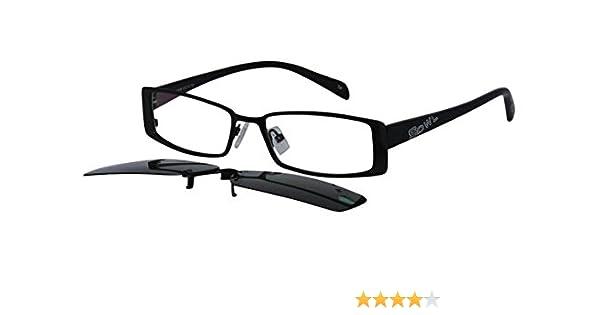 1b5a4a0feb3d Amazon.com: EyeBuyExpress Men Women Rectangular Prescription Clip On  Sunglasses Sun Readers Black: Beauty