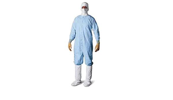 Dupont CC252BBUSM0025PI Tyvek Micro-Clean 2-1-2 Coverall Individually Packaged Pack of 25 Small Blue Thomas Scientific