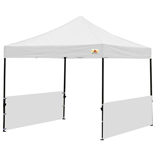 (ABCCANOPY Sunwall Accessory, Two Half Walls for 10'x10', 10'x15', 10'x20' Pop Up Paty Canopy(2 Half Walls Only. Canopy Purchased Separately) (White) )