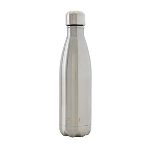 S'well Vacuum Insulated Stainless Steel Water Bottle, 17 oz, Silver Lining