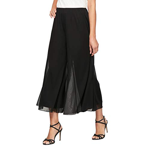 (Alex Evenings Women's Dress Pants (Petite and Regular), Black Cropped Mesh, S)