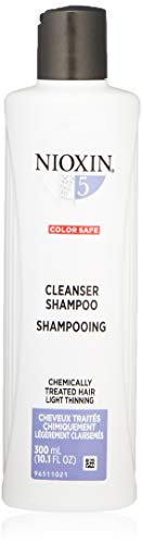 Nioxin Cleanser Shampoo System 5 for Chemically Treated Hair with Light Thinning, 10.1 Ounce