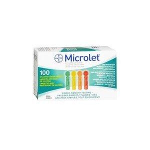 Bayer Microlet couleur lancettes - 100 ct.