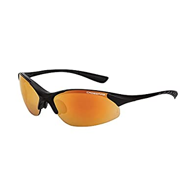 Crossfire Eyewear 1528 Cobra Safety Glasses with Black Frame and Red Mirror Lens