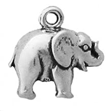 Elephant Charm .925 Sterling Silver Perfect for Custom Bracelets, Anklets, Necklaces, Pendants, Earrings, and Rings. Also see matching earrings SKU# B008GMYH8U