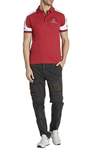 Aeronautica Militare Polo PO1443P Blanc Rouge Piqué Homme Chemise T-Shirt 2