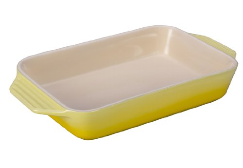 Le Creuset Stoneware Rectangular Dish, 12.5 by 8.25-Inch, Soleil by Le Creuset
