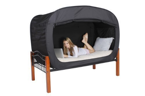 Privacy Pop Bed Tent (Full) - BLACK by Privacy Pop