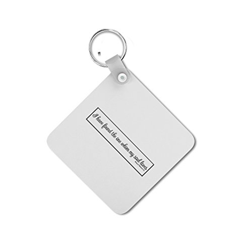 I Have Found The One Whom My Soul Loves Double-sided Square Metal Key - Square I A Face Have