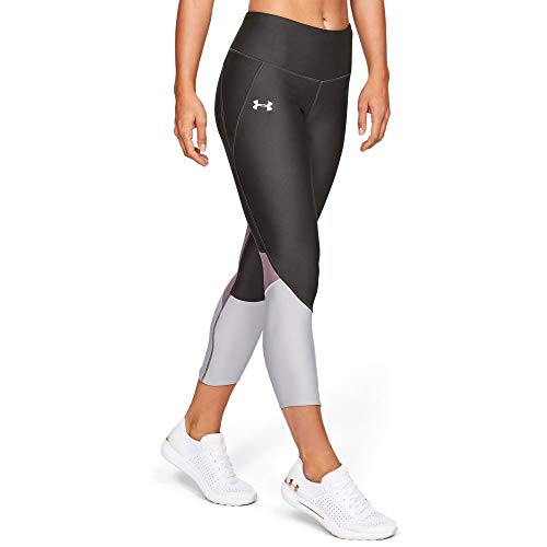 Under Armour Women's Armour Fly Fast Crop, Jet Gray//Reflective, Medium