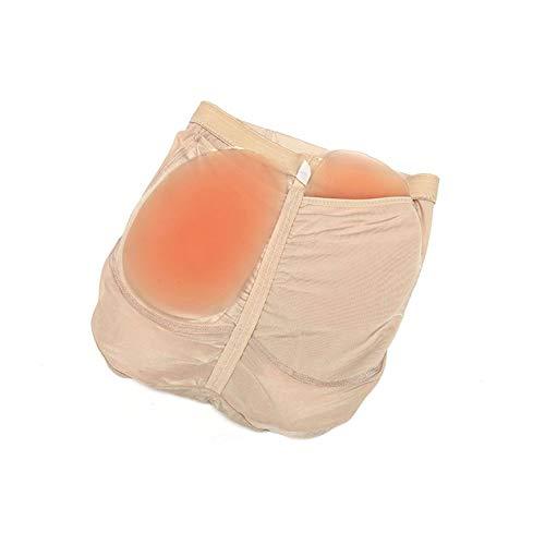Peanutaoc Hip Enhancer Femme Faux Ass sous-v/êtements avec Coussinet en Silicone Taille Haute Fesses Shaper Confortable Culotte Soufflet Femme