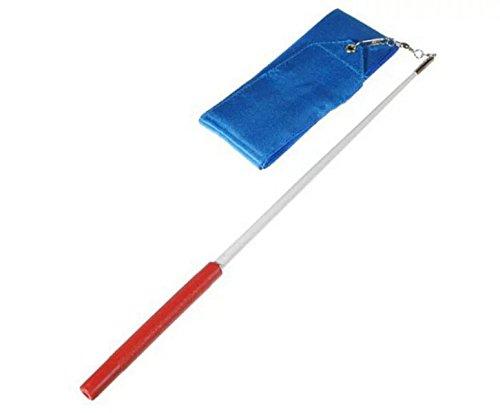 4M Gym Dance Ribbon Rhythmic Art Gymnastic Ballet Streamer Twirling Rod Hot pink blue S6Bpn6N3U
