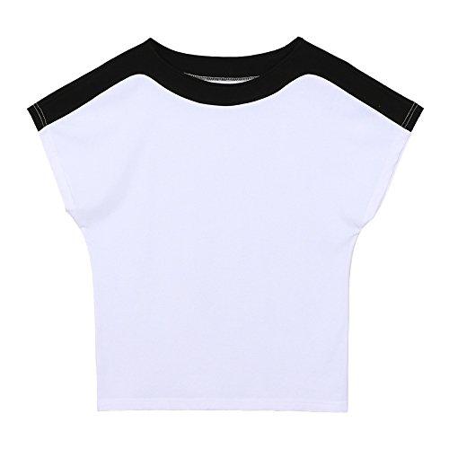 shirt puro shirt bianca T da estiva corta manica cotone cotone in T a semplice in donna pipistrello T a shirt top MOMO412654 con pB7RqxYR