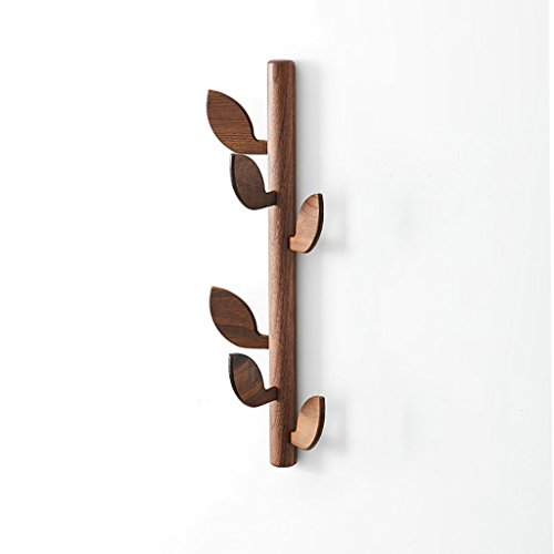 LXLA- Clothes Hook Wall Hanging Coat Rack Hanger Solid Wood Wooden On The Wall Living Room Hall Entrance Creativity (Mortise Entrance Style)