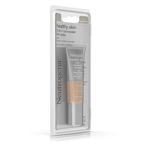 Neutrogena Healthy Skin 3-In-1 Concealer For Eyes Broad Spectrum Spf 20, Medium 15, .37 Oz.