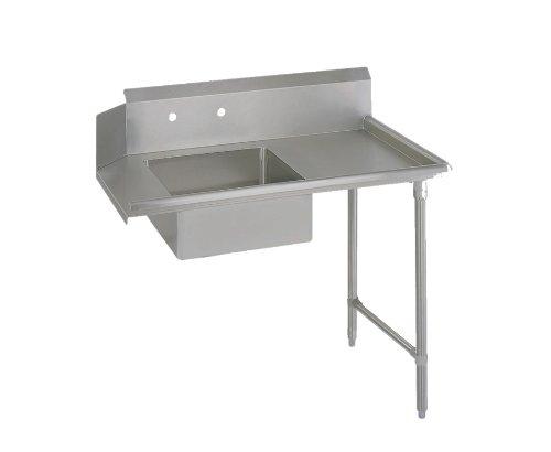 "John Boos E-Series Stainless Steel Straight Soiled Dishtable, 8"" Deep Sink Bowl, 48"" Length x 30"" Width, Right Hand Side"