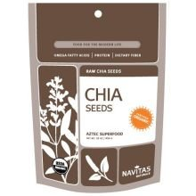 Price comparison product image Navitas Naturals Organic Raw Chia Seeds,  16 Ounce - 6 per case.