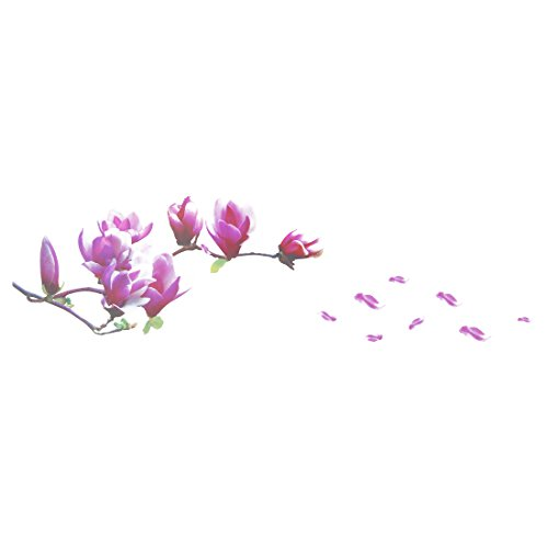 Xigeapg Large Magnolia Flowers Mural Art Decal Wall Stickers