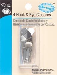 (Bulk Buy: Dritz No Sew Hook & Eyes 1/2