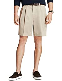 Men's 30281 Pleated Front Light Weight Chino Shorts, Stone Color