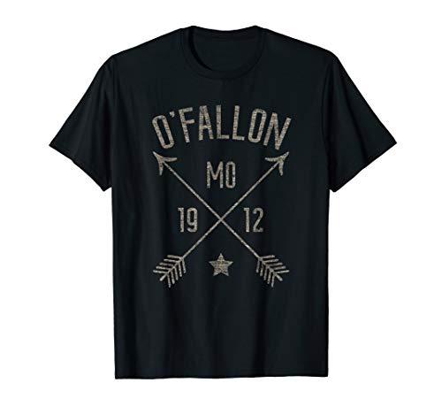 O'Fallon MO T Shirt Distressed Boho Style Home City -
