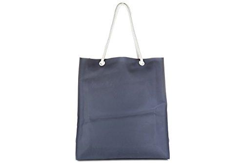Emporio Armani EA7 borsa donna a mano shopping tote nuova beach blu