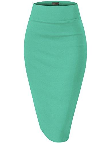 - Womens Premium Stretch Office Pencil Skirt KSK45002 Mint 2X