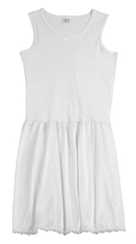 Rossette Sleeveless Full Slip for Girls - Cling Free - Cotton / Nylon - Girls Slip